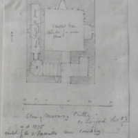 Plan of Morning Castle Co. Longford. Sheet 23/1. erected by the O'Farrells ad. 1575. near Carrickboy
