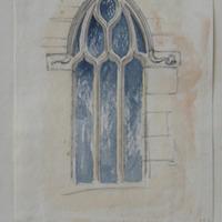 Large window in gable of S transept Franciscan Abbey. Multyfarnham abbey Co. Westmeath. May 1864