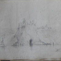 Dunluce Castle from the sea, November 6. 1839