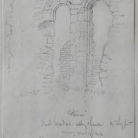 Exterior East window Abbey Shrule Co. Longford. Masonry exceedingly rude. 30 June 1864