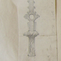 Illustration of Cross at Sheephouse Co. Meath in JRSAI XLV 1915 pp27 etc