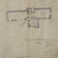 Plan of the hermitage of St. Erc Slane. May 1866. Small 3rd order friary OSF [scaled plan]