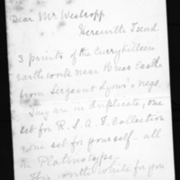 Letter from H. T. Knox to Thomas J. Westropp, 27 October, 1911