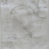 Exterior doorway S wall of nave Dowth old church [elevation and plan of jamb]