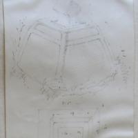 Old church of Killary Co. Meath Sheet 12/2. July 1866 [cross base, cross-head fragment] [plan]