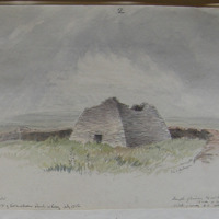 ancient stone church about 1200 feet to the NW of Kilmalkedar Church July 1856 Signed Geo V DuNoyer
