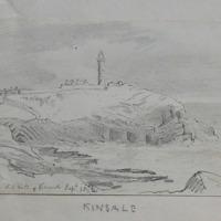 New Lighthouse Old Head of Kinsale. Sept 1852