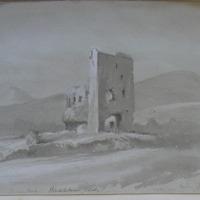 Kindelstown Castle, looking N.N.W.; Sugarloaf;