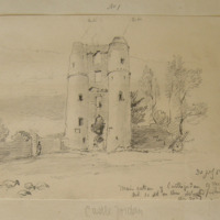 Main entrance of Castle Jordan Co. Meath and so old ??? 30 July 1859