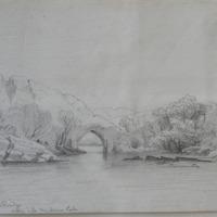 Brikeen Bridge; looking  into Muckross Lake. May 1855