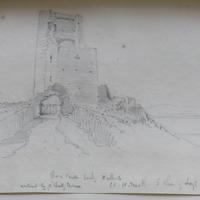 Ross Castle looking Northwards. Co. W. Meath. S shore of Lough Sheelin. 6 Apr 64