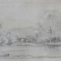 old Weir Bridge Killarney from Dinnish Island; May 1855