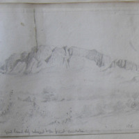 North face of Bengevenagh mt, Co. Derry showing land slips; great land slips subsequent to the present ?denudation 1838