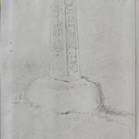 Killarry old church, near the well of Tobernagropple alias Toberna hopple; plinth circulum; 8.5 in x 1 f - 2 in … [?, shaft]