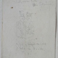 [heraldic plaque] over the door of Ballycowan Castle near Tullamore