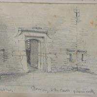 Doorway to the Castle of Enniscorthy. Oct 62. Granite casing to doorway