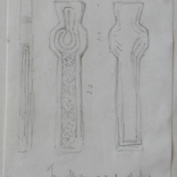 From the graveyard of Abbeyshrule Co. Longford [cross fragments]