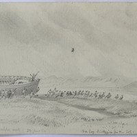 The Launch - Arklow Creek, 22 June 61. Sea fog drifting in from the SE