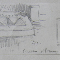 Piscina at St. Mary's Church Fore. Plan May 1864