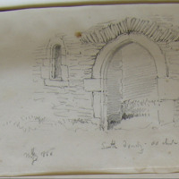 South doorway of old church of Ardcath Co. Meath. Sheet 33/1. May 1866. N door (also)