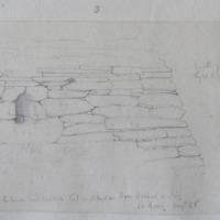 Exterior east window Kilmalkedar stone roofed oratory Co. Kerry August 1856
