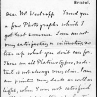 Letter from H. T. Knox to Thomas J. Westropp, 20 November, 1903