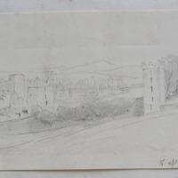 Kells Priory on the King's River Co. Kilkenny. 15 April 1864