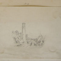 Round Tower Kells. From a sketch by G. Petrie esq.