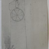 Gobbnets Stone; Ballyvourney, Co. Cork; near Ballyvourney R. C Chapel; Sept 1854