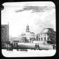 Engraving of Rotunda Hospital, Parnell Street, Dublin.