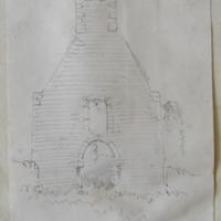 West gable St. Bernard's Chapel Mellifont. June 1866