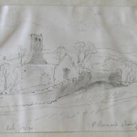 St. Bernard's Chapel Mellifont. June 1866. looking NNW.
