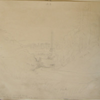 View of thw Obelisk locn of the Battle of the Boyne. From King William's Glen June 21 1842
