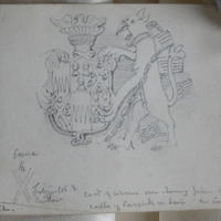 Coat of Arms over chimney piece in large hall Castle of Carrick on Suir [see inscription 3r]