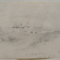 on Arklow Bar. Gale from the SE; July 1861
