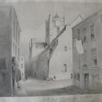 Christs Church Cathedral from the West. Sep 1841