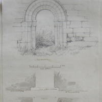Door Way of the old church on the White Island, Lough Erne, Co. Fermanagh; Geo: DuNoyer, May 1845