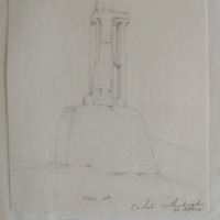 Cross at Cashel Cathedral Co. Tipperary. [Dimensions pasted below drawing]
