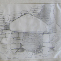 Fire Place Slane Abbey Co. Meath. May 1866