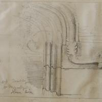 Corbel of drip moulding doorway of Monastery Slane Hill