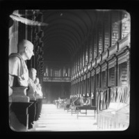 Old Library interior, Trinity College, Dublin City, Co. Dublin, Ireland