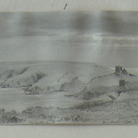 Dundeady Castle looking SW Oct 1853 Toe Head