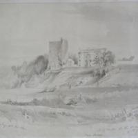 Suir Castle and the old mansion house of Lord Masaren on the River Suir. Geo: V Du Noyer Delt Nov 1840