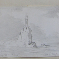The Fastnet Rock Lighthouse Co. Cork. Sketched by G. Wiley