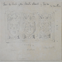 "From the porch of the Parish church of Trim, Co. Meath 1' 2"" by 1' 11 1/4"". Dillon Dillon De Bath"