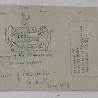 Arms of the Barnewalls. EN BON ESPOIER. Castle of Tremblestown Co. Meath. May 1859