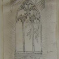 West window in Tower of Slane Abbey Co. Meath. Interior. July 1866