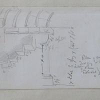 Plan of the ancient doorway in the S wall of the nave of the Cathedral of Killaloe Co. Tipperary