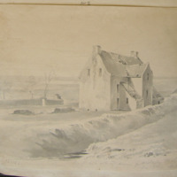 Back view of the old house of Ardagh Co. Louth. See other sketch. GD January 20 1842