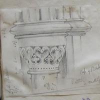 cap of pillaster Baptistey Mellifont height of pillaster 3/7